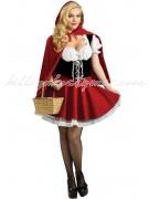 Kvav Halloween Lilla Rödluvan Kostym