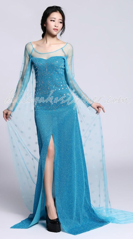 Vinter Frost Prinsess Elsa Klänning Vuxen 9022860ab7df6