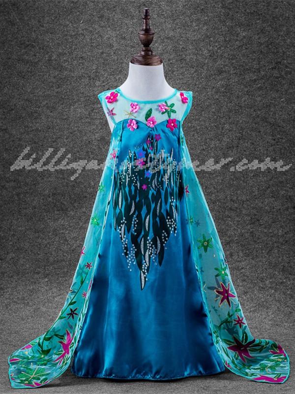 Frost Elsa Prinsessklänning För Barn