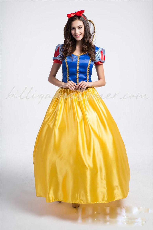 Deluxe Halloween Snövit Dräkt Prinsessa Kostym