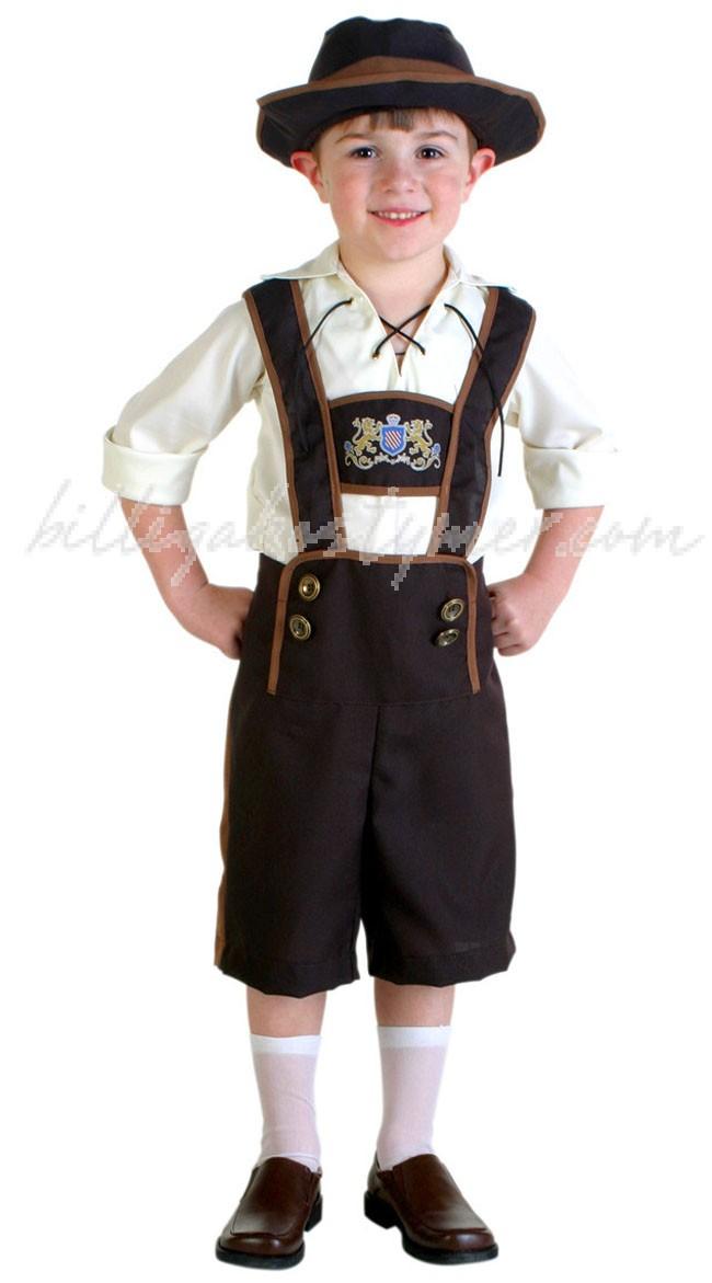 Bayerska Kille Oktoberfest Kläder För Barn