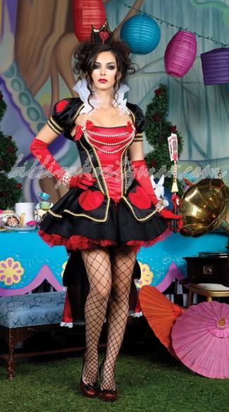 Alice In Wonderland Sexiga Drottning av Hjärtan Kjole