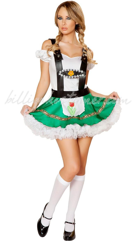 Grön Öl Tjej Kostym Oktoberfest Kläder