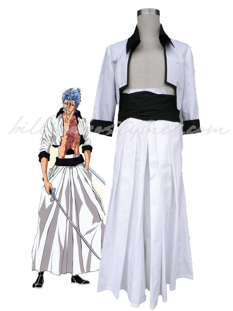 Bleach Grimmjow Cosplay Kostymer