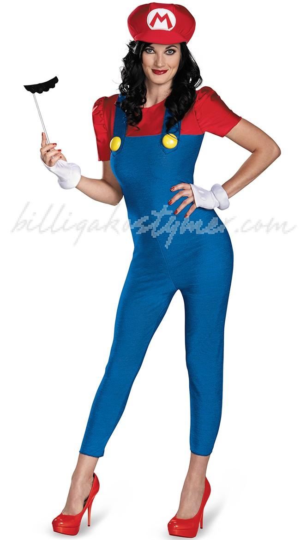 Deluxe Kvinnlig Super Mario Dräkt Bodycon