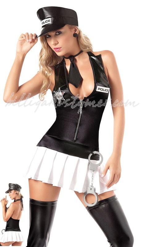 Fantasi Sexig Polis Kostym