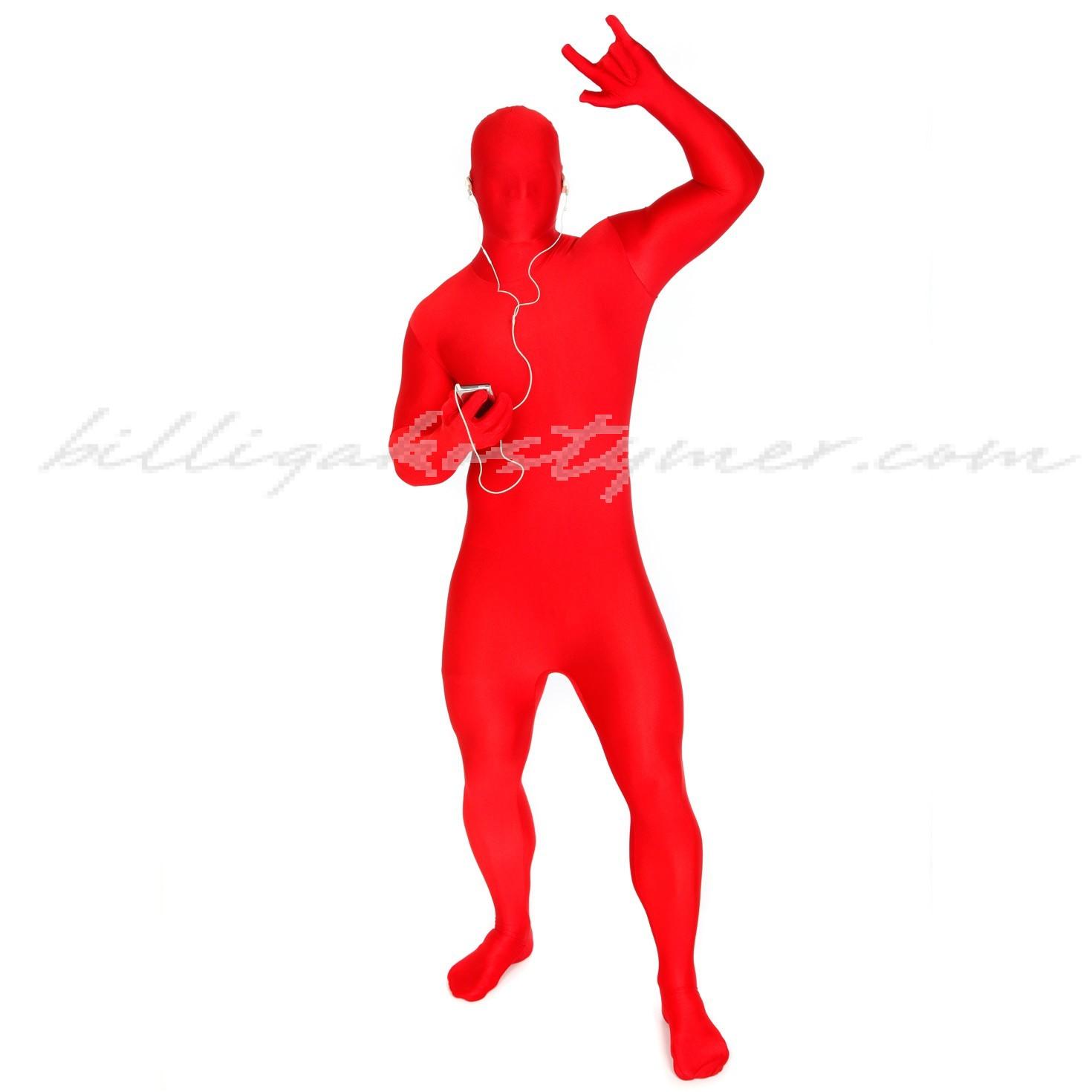Röd Morphsuits Lycra Spandex Kostymer