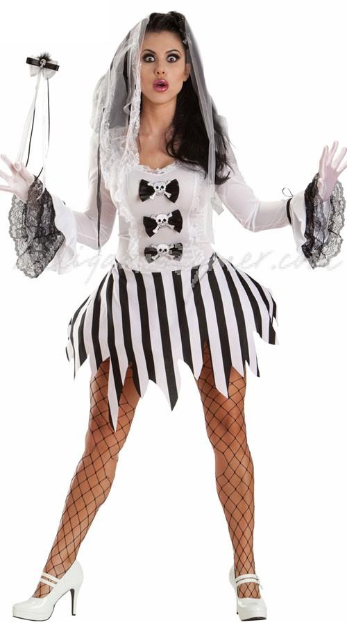 Sexiga Halloween Kostymer Zombie Brud Maskeraddräkt