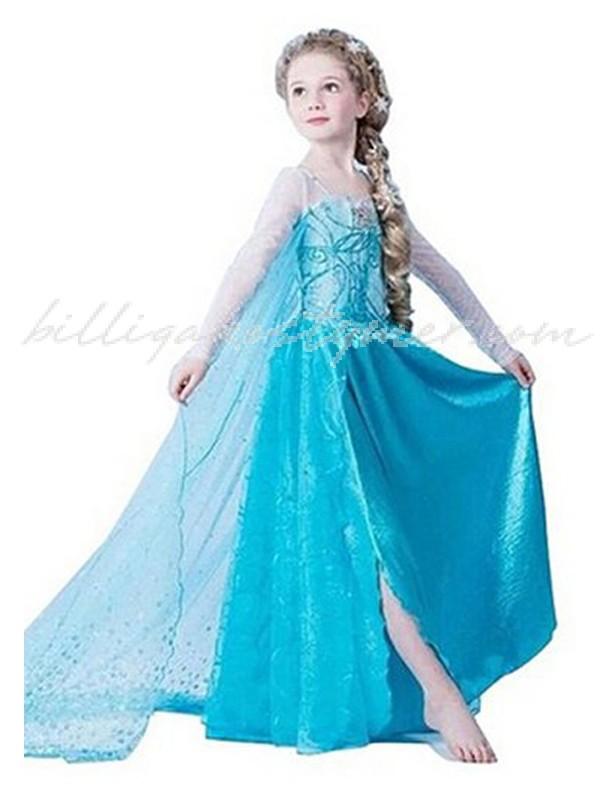 Drottning Elsa Frost Klänning För Barn Sequin Blå