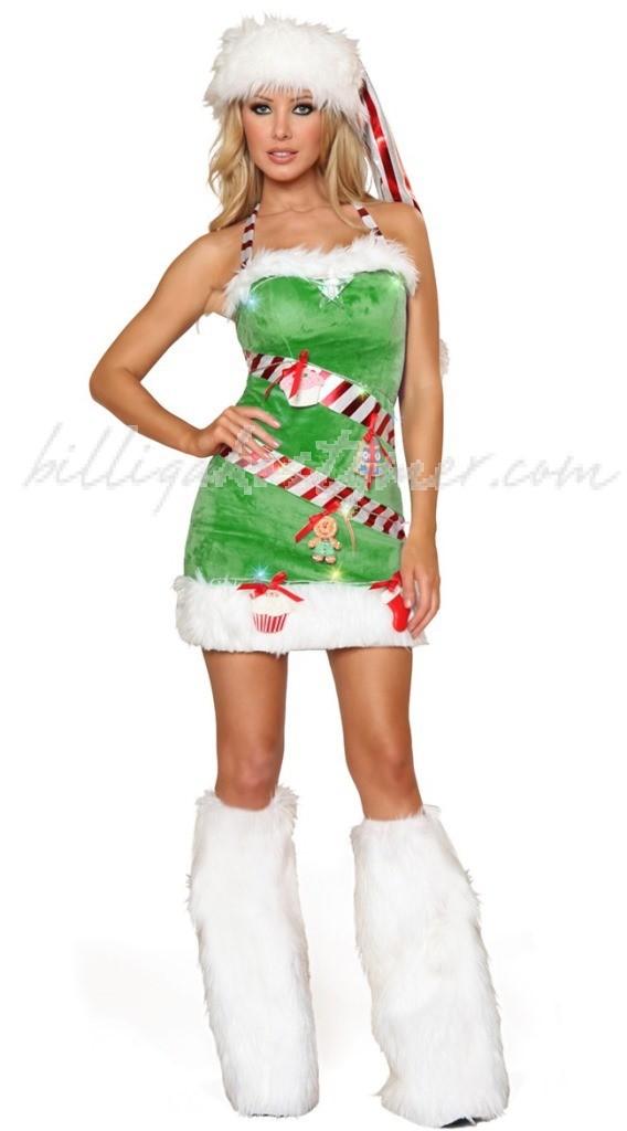 Ljusgrön Tomtekläder Jul Maskeradkläder