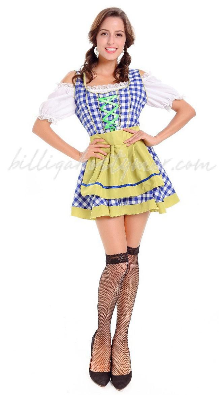 Bayerska Kvinnors Oktoberfest Kostym Blå