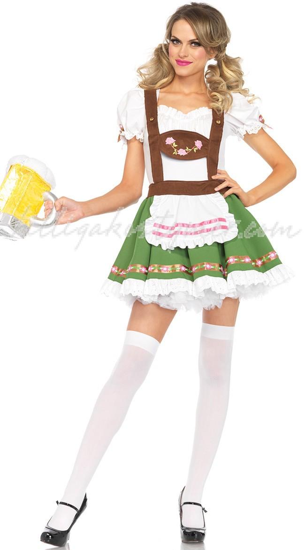 Sötnosflicka Kostym Oktoberfest Klänningar
