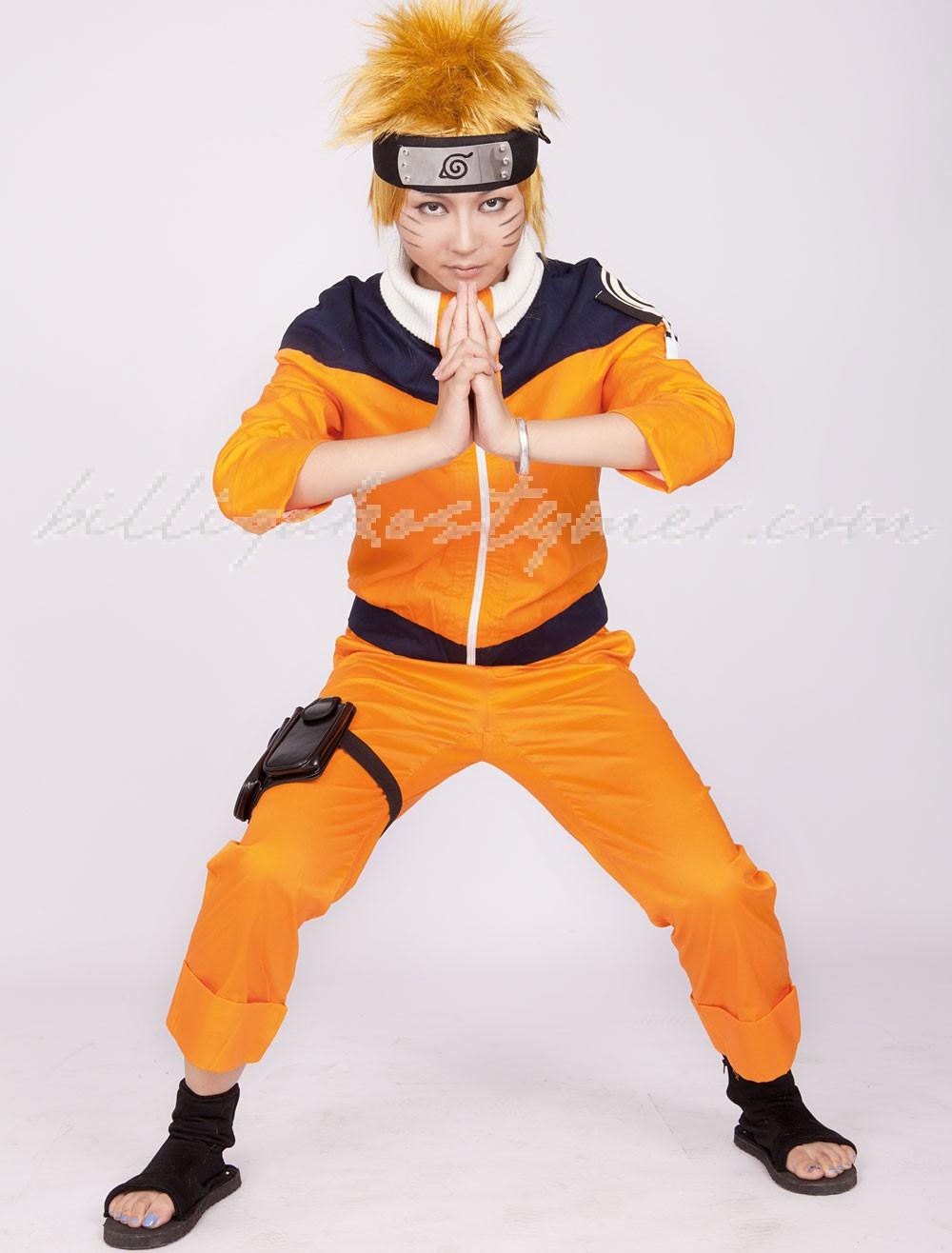 Gul Djupblå Naruto Uzumaki Naruto Cosplay Kostymer