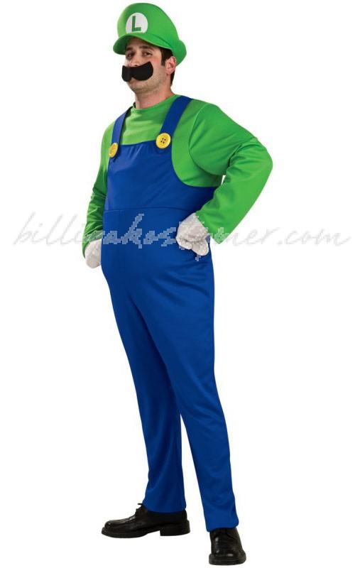 Deluxe Super Mario Brothers Luigi Dräkt Vuxen