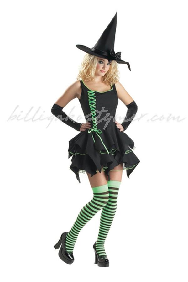 Halloween stygg söt Häxa Kostym