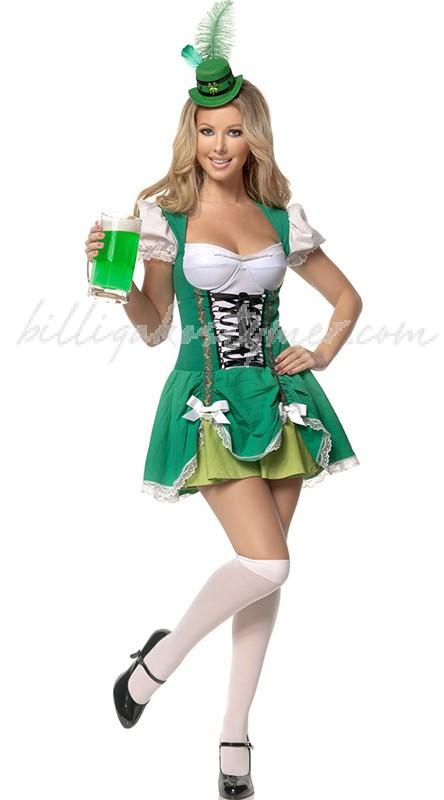 Grön Sexiga Alice Tyroler Oktoberfest Kläder