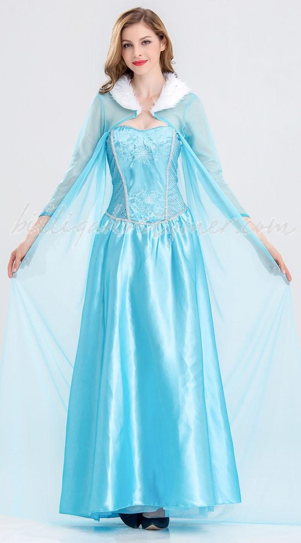 Mesh Blå Frost Prinsess Elsa Klänning 2ace049577026