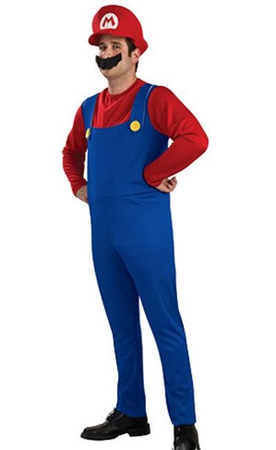 Mario Dräkt Vuxen Super Mario Dräkt