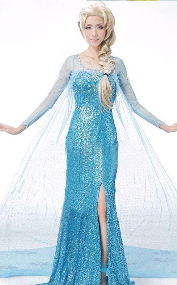 Billig Frost Elsa Klänning Vuxen