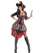 Halloween Kropp Formatorer Pirat Kostym