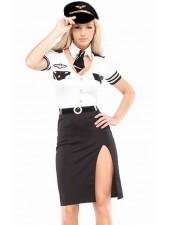 Flygvärdinna Pilotflygning Kostym