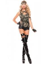 Hottie Kamouflage Army Kostym