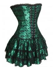 Grön Korsettbustieren Miniklänning