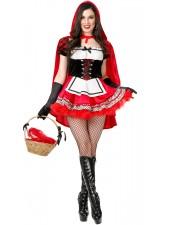 Hot Lilla Rödluvan Kostym