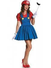 Super Mario Dräkt Kvinna Mario Och Luigi Dräkt Vuxen