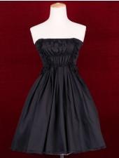 A line axelbandslös svart klassiker lolita klänningar