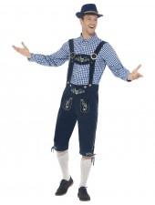 Traditionell Bayersk Oktoberfest Lederhosen Kostym