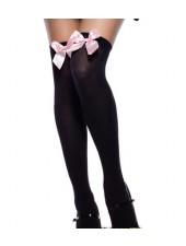 Lolita maid skolflicka svart spets rosett Strumpor