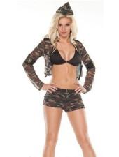 Sexig Militära Uniformer Soldat Armé Flicka Kostym