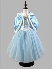 Vinterflickor Fe Prinsessklänning Blå