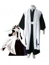 Bleach 6th uppdelningen Kapten Kuchiki Byakuya Cosplay Kostymer
