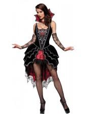Deluxe Mörk Simhud Älskarinna Vampyrkläder