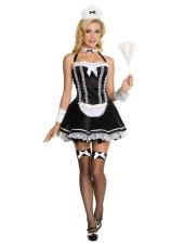 Sexig halter franska Maid kostym