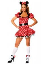 Vuxen Polka Dot Mimmi Pigg Kostym