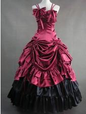 Klassiska lolita aristokrat rokoko lyx långa klänningar