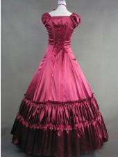 Renaissance victorian röda klassiska lolita långa klänningar