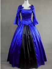 Airstocrat klassiska lolita victorian kungsblå långa klänningar