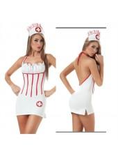 Sexiga huvud Sjuksköterska Kostym