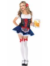 Sexiga Flörtig Tyroler Kostymer Oktoberfest Kläder för kvinnor