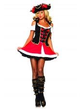 Halloween Kostymer Amiral Kostym Piratkostym