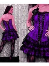Lila Sexiga Korsett klänningar