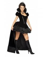 Halloween Svart Ogudaktiga Drottning Kostym