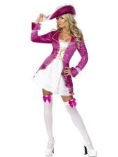 Halloween Kostymer Rosa Skatter Piratkostym