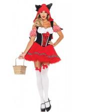 Halloween sexiga Lilla Rödluvan Kostym
