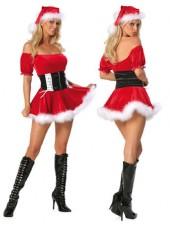 Röd Sexiga Tomtedräkt Juldräkt
