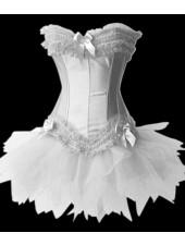 Brudkorsett Korsett med Miniklänning vit